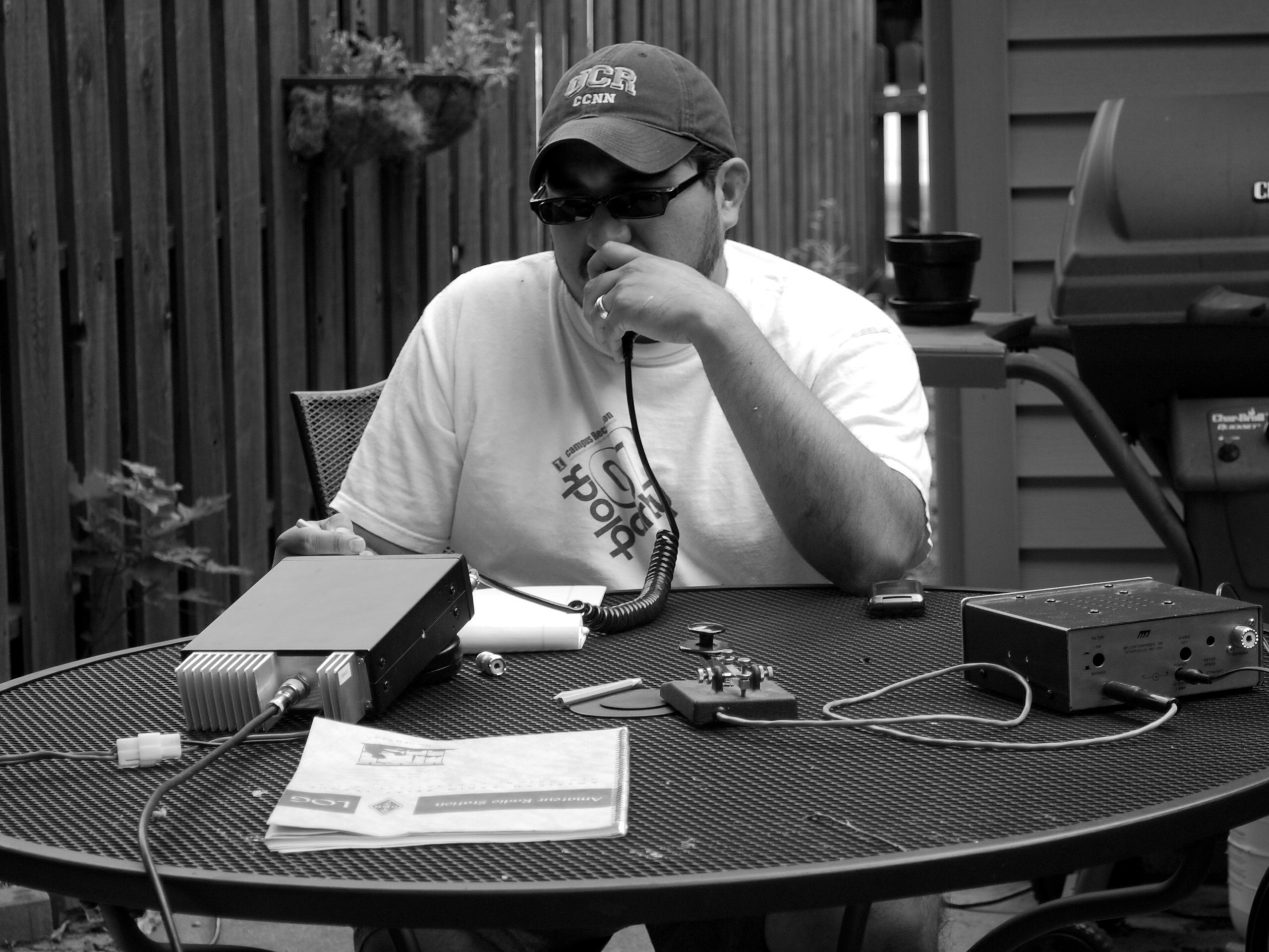 ham radio black and white I've been a ham radio operator for almost 19 years.